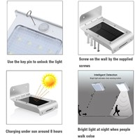 16LEDs PIR Motion Sensor Solar Light Wireless Solar Powered Solar Lamp Waterproof Outdoor Garden Security Wall Light