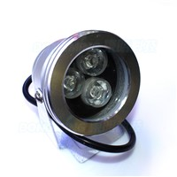 AC85-265V 3W led underwater lights ip68 waterproof White/warm white underwater fountain pond lights plane lens