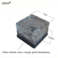 ZINUO Garden Solar Powered LED Lamps Glass Stone Underground Light Waterproof Floor Buried Light Outdoor Lighting Solar Lamp