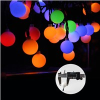 white ball Solar string light RGB 5m length 30 leds christmas lights for Garden decoration outdoor patio lighting