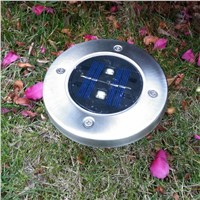 4 Pieces LED Garden Lights Stainless Steel Garden Solar Light for Fence Garden Street Decoration Outdoor Lighting 4 LED