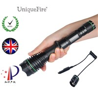 Uniquefire 1508 IR 850NM 38mm Lens LED Flashlight Focus Zoom 3 Modes Rechargeable Lantern 18650+Remote Pressure Switch