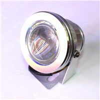 Wholesale convex lens +24key controller underwater light rgb AC85-265V 10W led underwater lamps ip68 rgb underwater led light