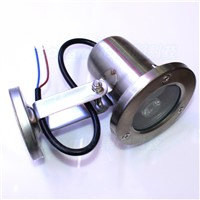 New product stainless steel body flat lens 3w AC85-265V underwater light warm/cool white underwater led strip outdoor pool light