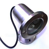 New hot 3w rgb underwater light stainless steel body flat lens IP68 AC85-265V with 24key controller swimming pool lights rgb