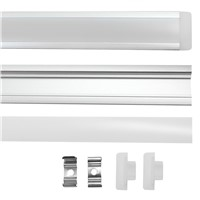 10pcs 1m 5630 5730 72led hard rigid strip bar cabinet lights DC12Vwith recessed aluminum profile shell channel pc cover  tube