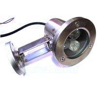 Wholesale 3w rgb underwater lighting stainless steel sheel flat lens IP68 DC12V with 24key controller swimming pool lights rgb