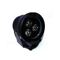 rgb underwater lights black body waterproof flat rgb underwater led 10W DC12V with 24keys led remote controller
