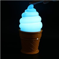 Novelty Led Night Light Ice Cream Lamp Kids Bed Sleeping Table Lamp For Children