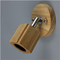 Modern wall lamp wood LED mirror front lamp The Restaurant coffee shops living background wall decorating light fixture