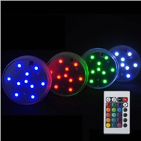 Remote Control LED Submersible Candle Lamp Multicolor Floral Vase Base Waterproof Light Wedding Birthday Party Decoration