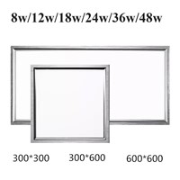 5pcs/lot Stylish Ultra Thin LED Recessed Square Panel Light 30*30cm 30*60cm 60*60cm 8w-48w indoor ceiling lights lamps CE RoHS