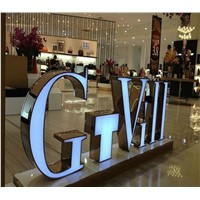 Outdoor and indoor 3D LED Letters Acrylic Front lit Advertising Business Signs With Stainless Steel Letter Shell custom