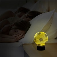 3D LED Lamp - Football Shape Art Sculpture Lights 7 Colors 3D Optical Illusion 3D Led Night Lamp