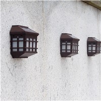 LED Solar Light Outdoor Solar Led Wall Lamps Waterproof Pathway Porch lights fence terrace Garden Decorative Lighting Luminarias