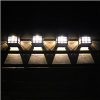 Retail LED Solar Light Outdoor Solar Led Wall Lamps Pathway Porch lights fence terrace Garden Decorative Lighting Luminarias