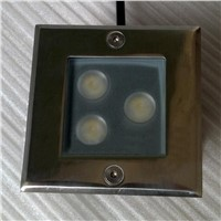 Outdoor Recessed LED Lighting Stufenlicht Treppe Underground Light IP65 3W LED Step Lighting Fixtures Square LED Buried Lamp