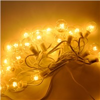 Summer Lighting - 25ft 7.5M G40 Globe Patio String Light, 25 Clear Globes on White Cable, Connectable Christmas Light String Set