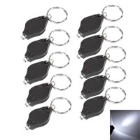 10PCS New LED Keychain Key Chains Flashlight Torch Lamp White Light Bright  VHD25 P20