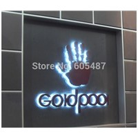 Custom Advertising 3D LED Backlit Sign stainless steel alphabet letters sign