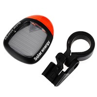 Waterproof Solar Power Bike Bicycle Rear Tail Red 2 LED 4 Mode Light Lamp MTB Safety Warning Bicycle taillight Lamp Bike Light