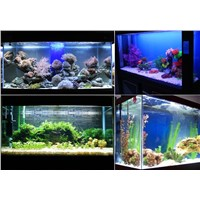 28 LEDs 220V Aquarium Lighting Clip Fish Tank Light White And Blue Water Plant Tropical Fish Grow Light Bulb Lamp