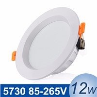 85-265V LED Lamp LED Ceiling Recessed Lamp 12W LED Downlight Spot Light Lighting SMD5730 Down Lights With Driver