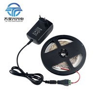 5M 60LEDs/M LED Strip light 2835 SMD / 3A Power Adapter / DC Connector, More Brighter 3528 3014, Lower Price than 5050 5630 SMD