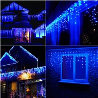 Romantic 224LED Home Christmas Xmas Festival Wedding Blue Gorgeous Curtain String Light Decoration 5M
