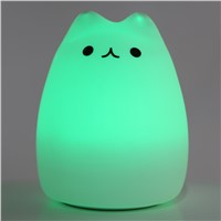 Creative Allochroic Colorful Animal Silicone Meng Pet Cute And Colorful Light Lamp Night Light Child Gift Home Decoration FULI