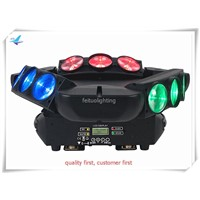 Y-6pcs 9x10w Triple RGBW CREE LED Linear Scanner spider beam moving head DJ Effect Light