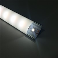 20Pack/2M(6.6ft) Black V-Shape 12mm LED Profile for Led Bar Light Aluminum Profile with Cover Corner Mounting Aluminum