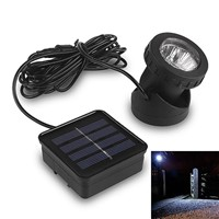Excellent 6 LED Waterproof Underwater Solar Power Spot Light Outdoor Garden Lawn Lamp