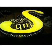 Outdoor acrylic 3D led Illuminated letters Sign board for shop