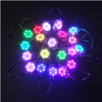 DC24V 5050 SMD RGB 6 LEDS diameter 40mm SM16703 LED Module,Full Color Digital RGB LED Pixel point light transparent cover IP68