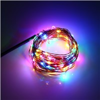 2016 New DC 6V 10M 100 LEDs Copper String Fairy Lights Lamps IP67 Waterproof LED Christmas Holiday Wedding Party Decoration