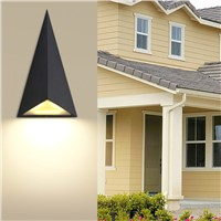 Modern led wall lamp, outdoor waterproof outdoor wall lights triangle, garden lights balcony aisle wall lamp AC85-256v