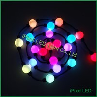 Programmable smart 360 view led flashing bouncing ball with multicolor light