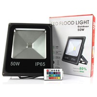 Refletor RGB Led Flood light with Remote Controller 10W 20W 30W 50W Led Spotlights 100W Waterproof Outdoor wall lamp floodlight