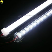 Warm Natural Cold White DC12V 5730 LED Bar Lights Tube Lamp Hard Strip LED Rigid Light With PC Cover 30LEDs/ 50CM 2PCS/lot