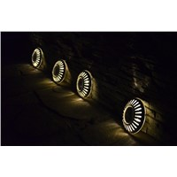 10pcs/lot Solar Lawn Lights Pathway Ground Road deck Lights  for Landscape Garden Fence Garden Stairsway Step lighting