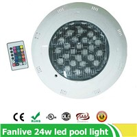 3pcs/lot 24w IP68 ac12V  LED Underwater Light Swimming Pool Led Light for Fountain Pond waterproof underwater rgb light