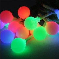 Best Selling Mini Outdoor Solar Matte Small Ball String Lights XMas Decor LED Post Lighting Christmas Decoration Light