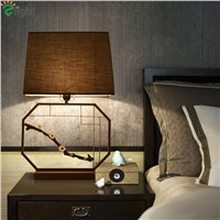 Chinese Retro Metal E27 Led Table Lamp Lustre Brass Bird Bedroom Led Table Light Desk Lights Simple Led Table Lighting Fixtures