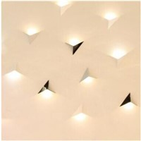 Creative triangle wall lamp 85-265V 3W led wall light modern home hotel restaurant aisle background lighting