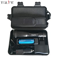 8000Lumens CREE XM-L T6 Focus Adjust Zoom Led Flashlight Torch( 18650 Battery +AC/Car Charger )