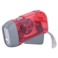 New LED led flashlight Torch Wind Up Hand Press Rechargeable Torch 3 LED Camp Flashlight Small