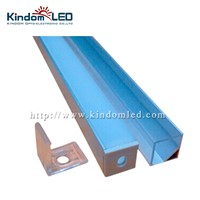 KINDOMLED 10set 1M Aluminum Channel for recessed 5050 led strip bar installation Aluminum Profile with Cover End Caps Clips tube
