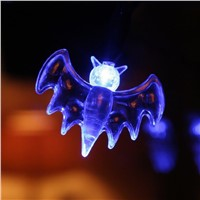 20 Lapms Blue Bat Lights Halloween Party Home Decoration Lights LED Fairy String Lights