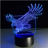 christmas decorations for home Amazing Flying Big Eagle Shape Night Light Colorful Hawk 3D Table Lamp for Office Hotel Bedroom